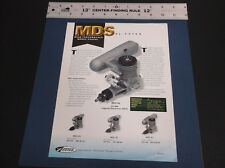 VINTAGE MDS - ESTES R/C AIRCRAFT ENGINE BROCHURE MDS 25  MDS  40 MDS 61 *G-COND*