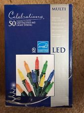 Celebrations LED50 Indoor/outdoor Color Mini Lights Green Wire 12'Lighted Length