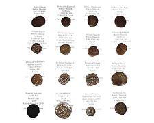 Moneda islámica medieval colección 16 atribuido mameluca Ayyubid Umayyad Fals