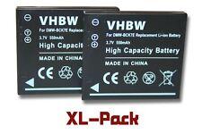 2x Akku für Panasonic Lumix DMC-FS35, DMC-FS37 550mAh 3,7V Li-Ion