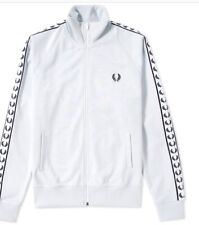 Fred Perry Tapped Track Top In Blue Hint Mens Size Xl