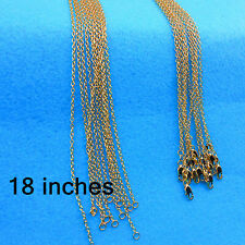 Wholesale Jewelry 10PCS 18inch 18K Gold Filled Rolo Chain Necklaces Pendants