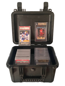 Medium Bulk Card Case for Graded Cards, One Touch,and Top Loaders - Precut Foam