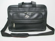 Vintage American Tourister Briefcase Luggage Black Vegan Leather Laptop Bag VGC