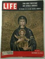 Life Magazine, Dec 28, 1953 Great Churches/ Wizard of Oz Drawings, Good Cond.