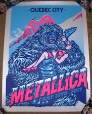 METALLICA concert gig poster QUEBEC 7-14-17 2017 Tour Ames Bros Ice Variant