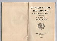 officium et missa  pro defunctis cum exequiarum ordine - 1956