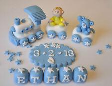 Fait main bébé baptême comestibles décoration train Anniversaire Cake Topper garçon -- girl