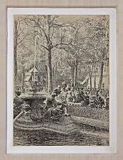 Listed Austrian Artist VON MYRBACH-RHEINFELD, Original Signed Drawing, 1882