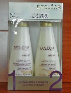 Decleor Anti-Aging Cleansing Duo Youth Cleansing Milk & Lotion 400 ml Total Size