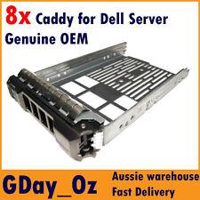 "8x 3.5"" Dell Server Caddy Bulk Discount Pack F238F G302D PowerEdge PowerVault"