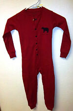 Youth size 2 Union Suit Red with Bear on front & Bear Bum on back Flap, CUTE!!