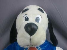 BIG NEW JUMBO DAVE & BUSTERS BLACK WHITE PUPPY DOG WEATHERED LOGO PLUSH STUFFED