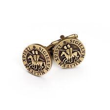 Superb Quality Masonic Knights Templar  KT Seal Cufflinks Bronze