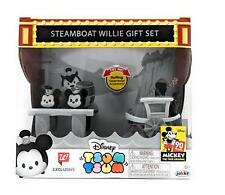 Disney Tsum Tsum Steamboat Willie Minnie and Mickey, 90th Anniversary New/DEFECT