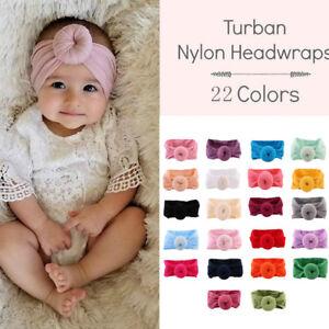 Baby Girls Kids Toddler Hairband Headband Stretch Turban Knot Donuts Head Wraps