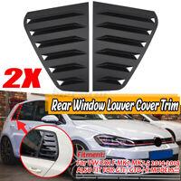 Opaco Finestrino Quarter Bocchetta Lato Ventola Scoop Cover Per VW Golf MK7 VII