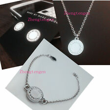 HOT MARC BY MARC JACOBS WHITE&SILVER NECKLACE EARRING BRACELET SET #S003