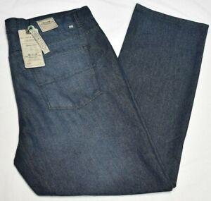 Alexander Julian Jeans Men's 44x32 Slim Straight Fit Denim Charles Wash B&T Q575