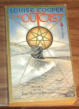 LOUISE COOPER The Outcast VG+ 1st print 1986 TIME MASTER TRILOGY BOOK II 2 TWO