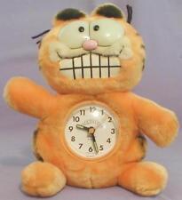 1981 GARFIELD PLUSH ALARM CLOCK TOY 1978 SOAP BAR AVON FAT CARTOON CAT VTG DAKIN
