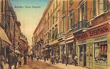 8910) BRESCIA CORSO MAGENTA AFFOLLATA CARTOLERIA BRESCIANA TIPOGRAFIA VG 1914.
