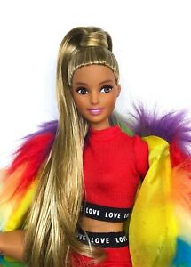 CUSTOM HYBRID BARBIE POP STAR DOLL WITH MADE TO MOVE BODY & SARAN REROOT!