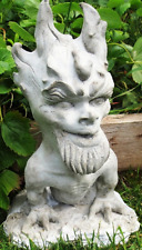 "Flaming-Headed Gargoyle 15"" Folk Art Sculpture for Home & Garden, by Claybraven"