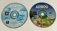 Lot de 2 jeux Playstation 1 PS1 en loose VF  Adibou  Envoi rapide et suivi