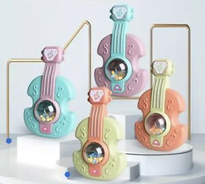 Baby Educational Safety Material Chew Teether Grasp Rattle Early Toys 0-3 Years