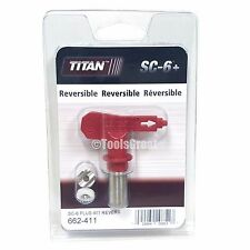 Titan SC-6+ 662-411 Reversible Airless Paint Spray Tip 411
