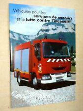 Prospectus Camion RENAULT  Incendie  Truck LKW Brochure Prospekt RVI Pompier