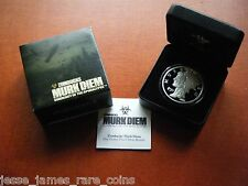 2018 PROOF SILVER MURK DIEM ROUND ZOMBUCKS Z50 1 OUNCE SERIES 5 ZOMBUCK
