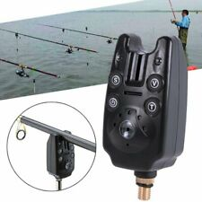 Fishing Rod Electronic LED Light Fishes Bite Sound Alarm Bell Alert Clip NEW US