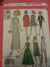 Doll clothes pattern fits 11.5 inch fashion doll Simplicity 1242