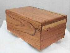 Large redwood pet cremation urn - handmade - round top