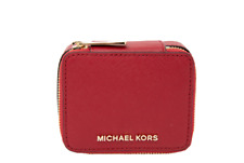 Michael Kors Jet Set Travel Saffiano Leather Jewelry Case Box New With Tags