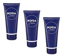(36,63€/100ml) 3x 100ml Nivea Creme tube Handcreme Körper tube cream