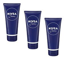3x 100ml Nivea Creme tube Handcreme Körper tube cream Pflegt jeden Hauttypen
