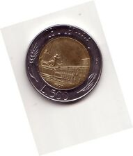 Repubblica Italiana 500 lire 1991 Bicolore bimetallico acmonital  bronzital   BB