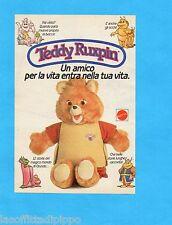 TOP986-PUBBLICITA'/ADVERTISING-1986- MATTEL - TEDDY RUXPIN