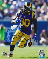 Todd Gurley Signed 8x10 St. Louis Rams Photo - Throwback Uniform Beckett BAS
