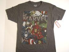 Marvel AVENGERS and DEFENDERS T-shirt Mens M(38/40)Iron Man, Black Panther, Hulk