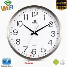 Full Wifi 720P HD Spy Hidden Hang Wall Clock Camera Digital Realtime Record Cam