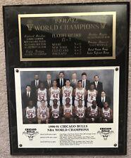 1990-91 Chicago Bulls NBA World Champions Plaque 15x12