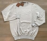 900$ Loro Piana Blue Cashmere Silk Cotton Sweater XXL, EU 56 Made in Italy