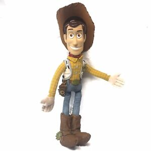 """TOY STORY BENDABLE SHERIFF WOODY 20"""" PLUSH DOLL OFFICIAL DISNEY STORE"""
