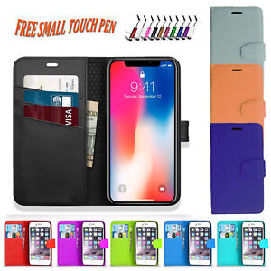 PU Leather Wallet Book Flip Case Cover Holder For Apple iPhone 6 Plus 6S Plus UK