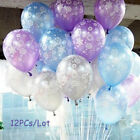 12X Latex Christmas Balloon Birthday Party Supplies Decoration Frozen Snowflake