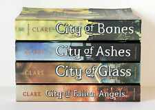 Lot of 4 (#1-4) MORTAL INSTRUMENTS Series Matched Set of Books - City of Bones
